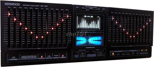 ТОПОВЫЙ Эквалайзер с ЭХО-эффектом KENWOOD GE-1100 HI-FI + Паспорт