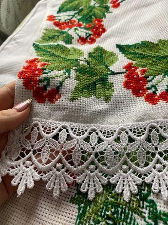 Ручная вышивка рушника на свадьбу/крещение