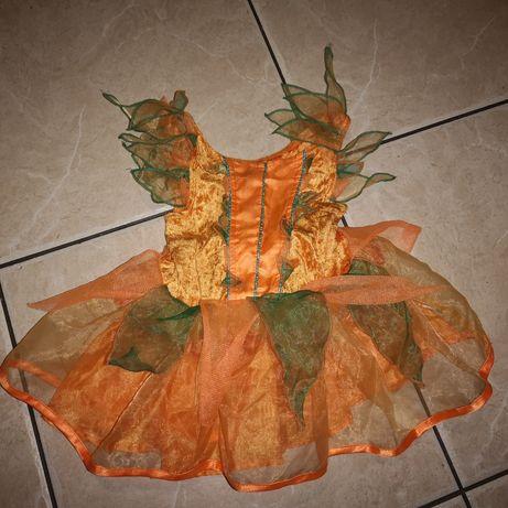 Sukienka dyni na halloween, dynia, karnawał rozm.86-92cm