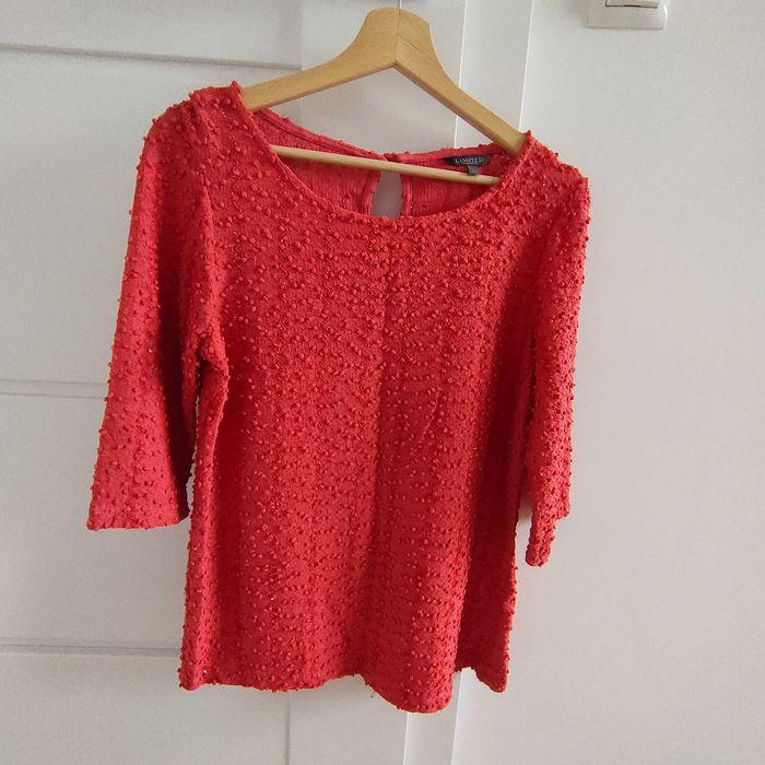 Połyskująca bluzeczka sweterek 42 cekiny koralowy kolor. Bojano - image 1