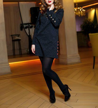 Платье чёрное коктейльное нарядное