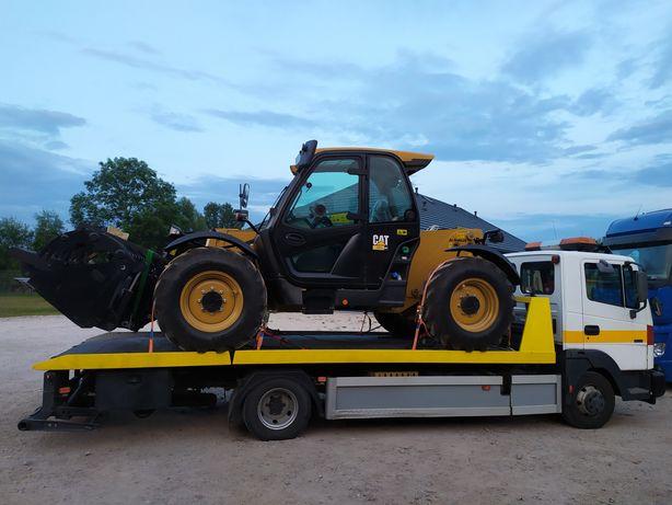 Pomoc drogowa , Transport maszyn rolniczych, Autolaweta