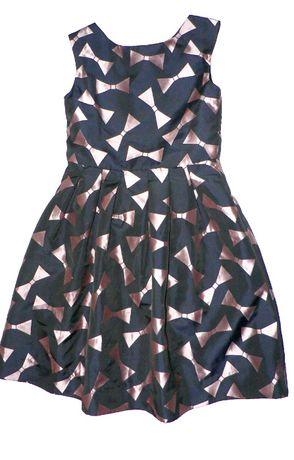 Turo park_ cudna sukienka z tafty-jak nowa_122-128cm