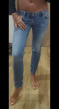 Spodnie jeansowe rurki Guess, perełki