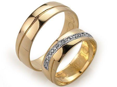 Goldrun Złote Obrączki Ślubne A003 Para Bezszwowe