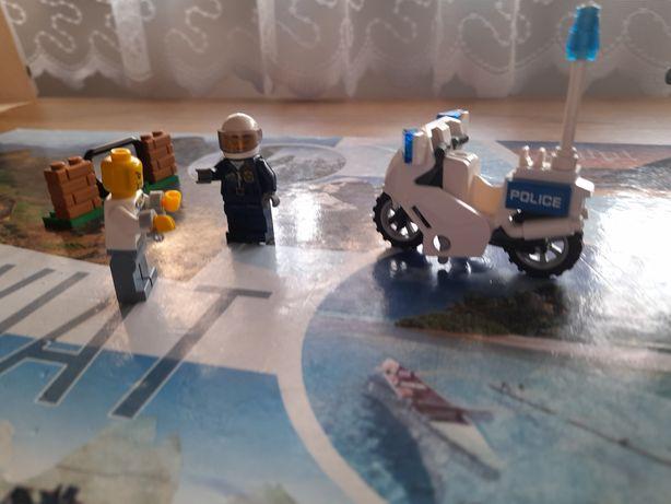 Helikopter i motor policja z klocków lego