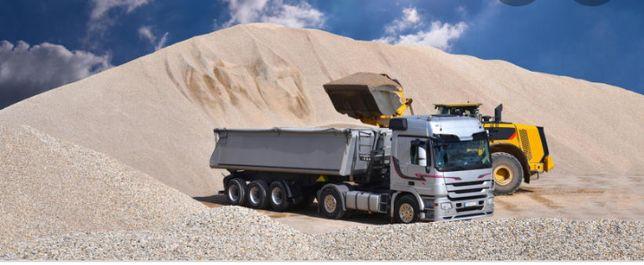 Kruszywo drogowe transport 27 ton Wywóz ziemi gruzu z budowy