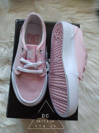 Nowe trampki tenisowki różowe DC 28/17,5 cm Conversy
