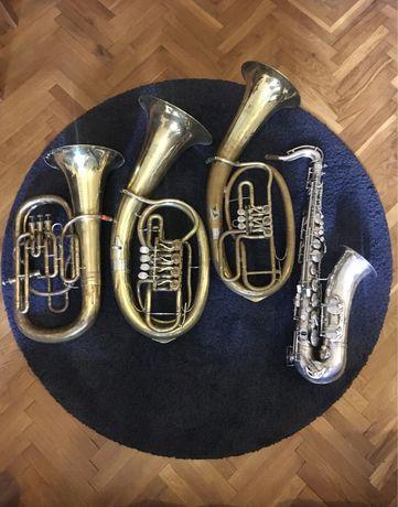 Euphonium, tenor, baryton, saksofon