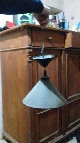 Stara lampa metalowa emaliowane nie czyszczona