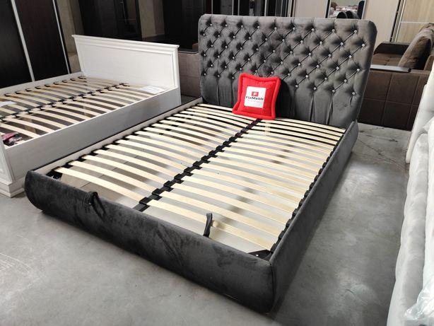 Ліжко Ейфорія з підйомним механізмом, з стразами, колір графіт!160*200