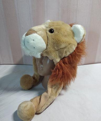 Шапка льва на флисе / тигр