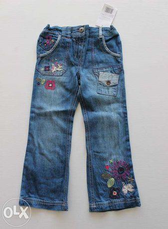 Nowe spodnie jeansy Cherokee 116 hafty