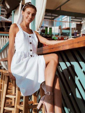 Летнее платье сарафан с открытыми плечами