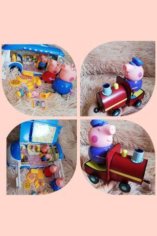 Пакет игрушек свинка пеппа дедушка свин