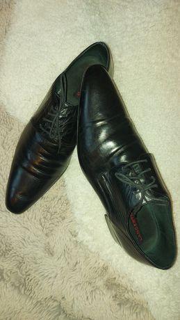 Lancerto eleganckie buty męskie ze skóry naturalnej,  43