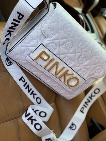 """Сумка в стиле """"Pinko""""   Белая и чёрная   Премиум качество"""