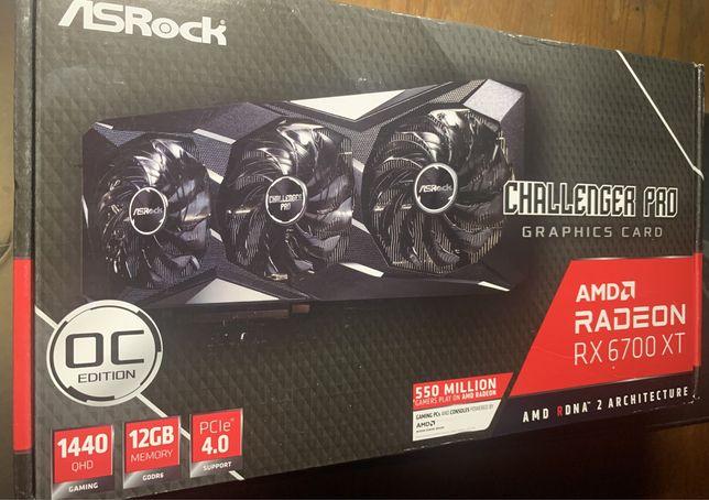 Видеокарты AMD Radeon RX 6700 XT Challenger Pro 12Gb OC/ новые