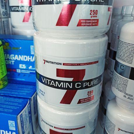 7NUTRITION Witamina C 250g Zwiększ odporność, Odżywki i Suplementy