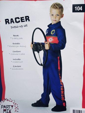 strój karnawałowy, kierowca rajdowy, 104, przebranie, chłopiec