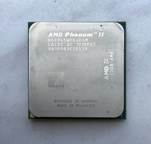 AMD Phenom II X4 945 (S:AM3, 3.0 GHz, L3 6MB, 45 нм, 95W)