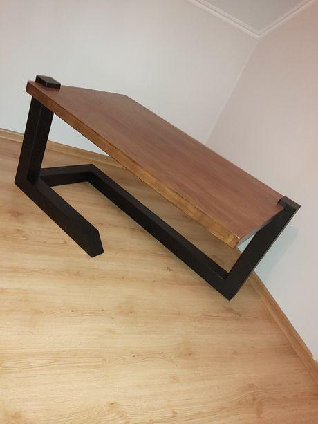 Stół dębowy - industrialny
