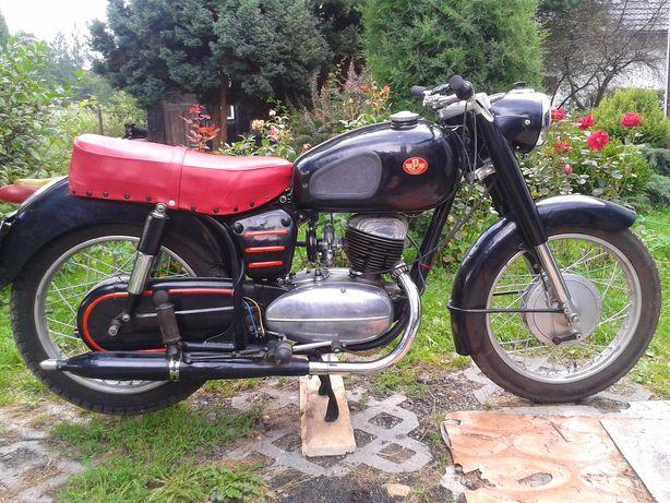 Motocykl Pannonia De Luxe 250ccm 1958 odrestaurowany, zarejestrowany