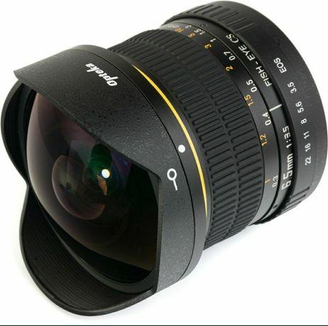 Opteka Fish-eye 6.5mm f/3.5 Canon на экшн-камеру Sony