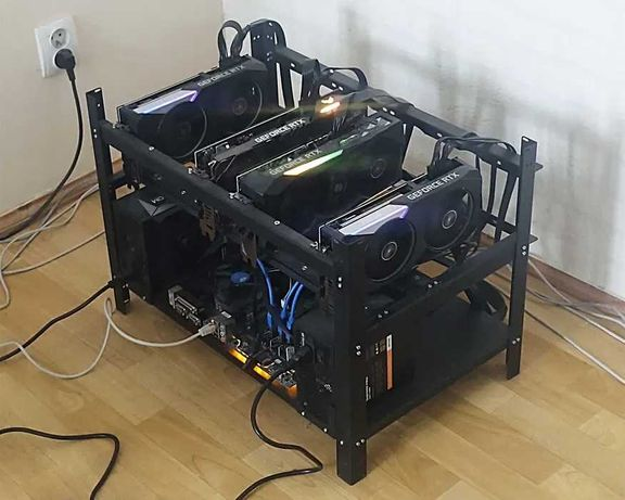 Koparka kryptowalut 4 x NVIDIA GeForce RTX 3070 / 245 mh/s / ETH