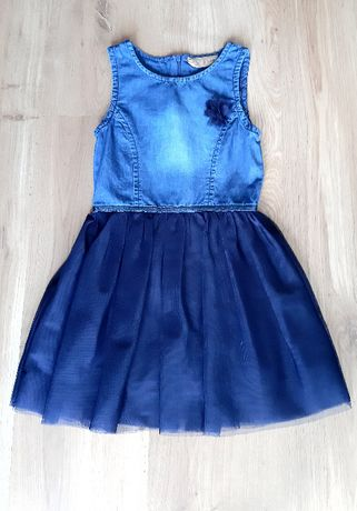 Sukienka galowa, granatowa Smyk r. 104