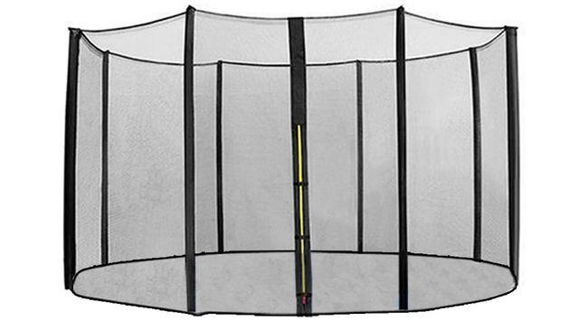 Siatka do trampoliny wewnętrzna 400 na 8 słupków żółty zamek KLARFIT