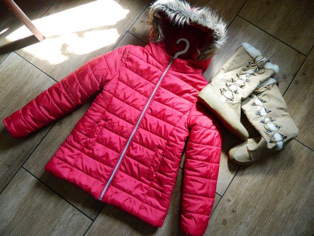 Jesienno- zimowa kurtka 11-12 lat 140/146 cm + buty
