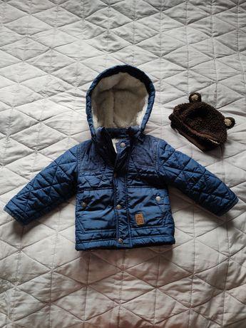 Pikowana kurtka Smyk Cool Club r.86+czapka H&M GRATIS!!!