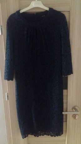 sukienka wizytowa Orsay r. L koronka granatowa