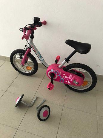 """Bicicleta criancas crianca BTWIN Decathlon 14"""" polegadas como novo"""