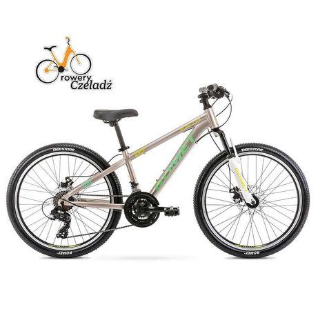 """Rower górski dziecięcy 24"""" ROMET rambler Dirt Szaro Zielony"""