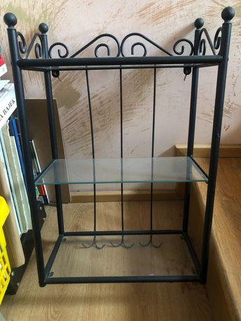 Szklana półka wisząca