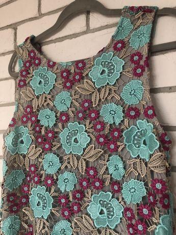 Sukienka Patrizia Pepe kwiaty ażurowa