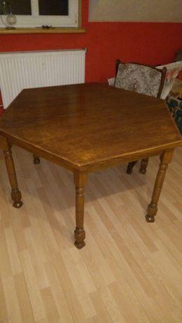 Dębowy komplet stół i 4 krzesła