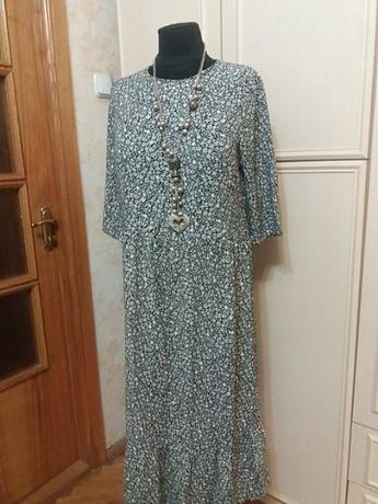 Платье в мелкий цветок в стиле бохо george р.52.много вещей больших ра