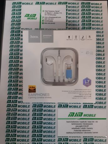 Słuchawki douszne iPhone Lightning HOCO L7 Plus - Wrocław Hala Tęcza