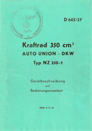 Instrukcja Obsługi DKW 350-1