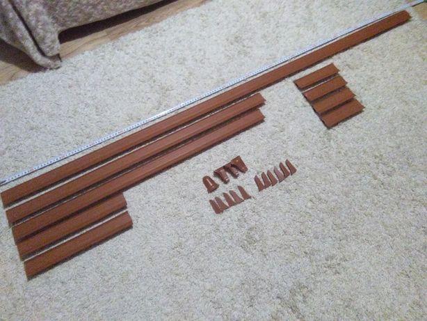 Listwy podłogowe plus końcówki