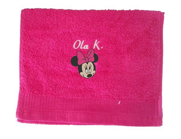 Ręcznik dziecięcy 30/50 cm z Imieniem i grafiką, haft, MYSZKA MINNIE