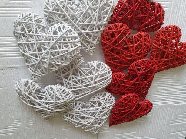 Serca z wikliny papierowej23cm