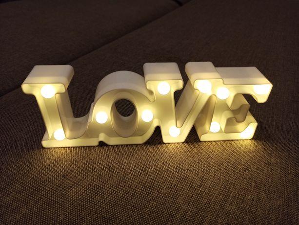 """Napis """"LOVE"""" LED - ślub, wesele, dekoracja"""