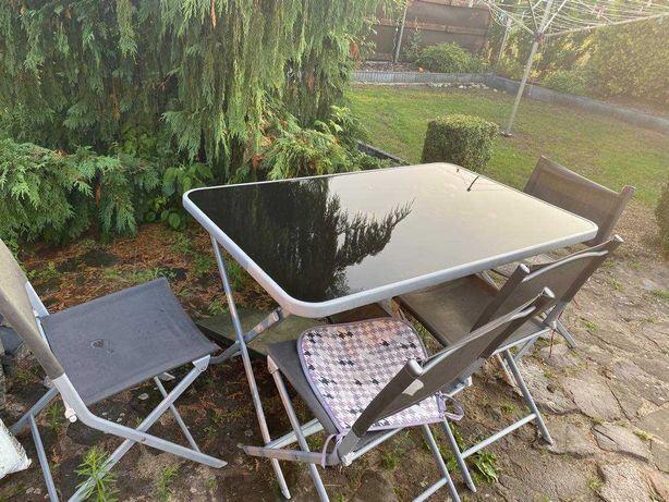 Stół + 4 krzesła, zestaw ogrodowy