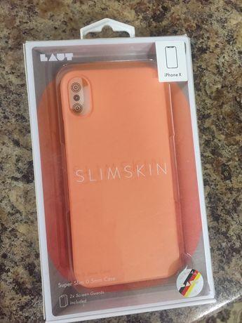 Чехол (панель) Laut Slimskin для iPhone X Pink
