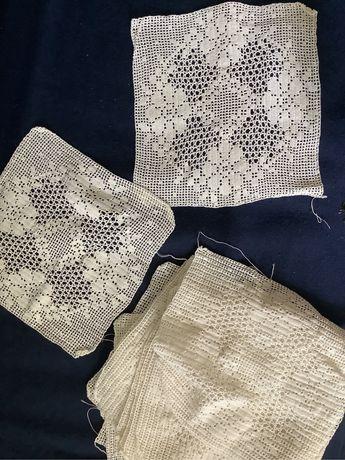 Quadrados em crochet para aplicar