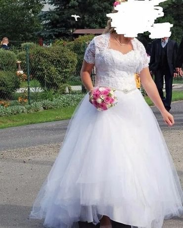 Sukienka ślubna + bolerko